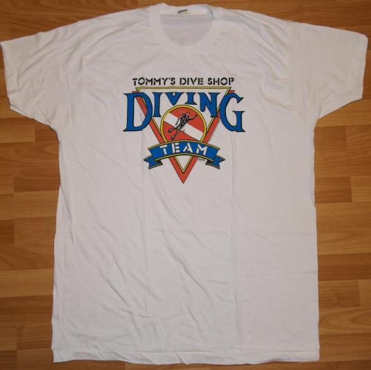 Vintage 80's Tommys Dive Shop Screen Stars RARE XXXL T-shirt