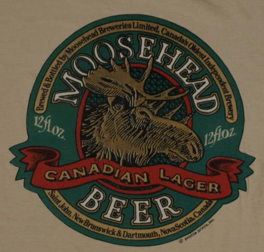 Vintage 1980's Mooseheand Beer Canad T-Shirt