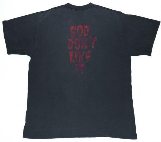 Vintage 1988 DANZIG GOD DON'T LIKE IT Heavy Metal T-Shirt