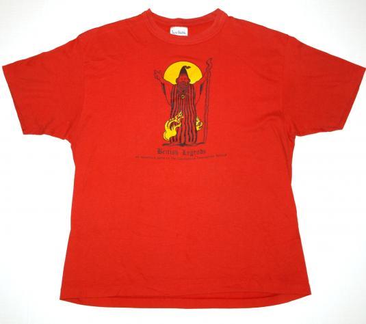 VTG 80s British Legends Dungeon Compuserve Wizard T-Shirt