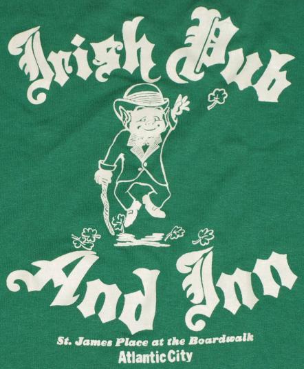 Vintage 1980's Atlantic City Irish Pub Leprechaun T-Shirt