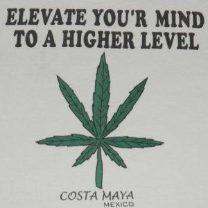 VTG Elevate Your Mind Pot Weed Marijuana T-Shirt Mexico