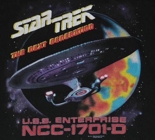 Vintage 1990s Star Trek Next Generation Enterprise T-Shirt