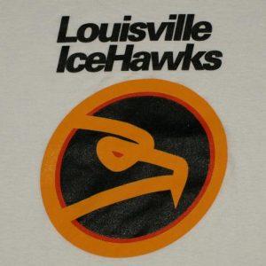 Vintage 1990s Louisville Icehawks Hockey White Soft T-Shirt