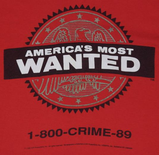 Vintage 1980s AMERICAS MOST WANTED TV Show T-Shirt
