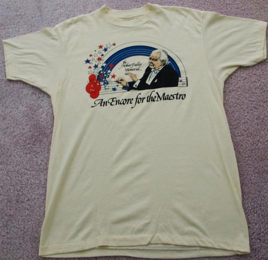 Vintage 1980s Arthur Fiedler Maestro Boston Pops T Shirt
