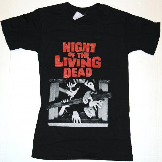 VTG 80s Night of the Living Dead Horror Movie T-Shirt Zombie