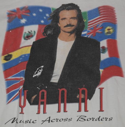 Vintage 1995 YANNI Concert Tour T-Shirt 1990s
