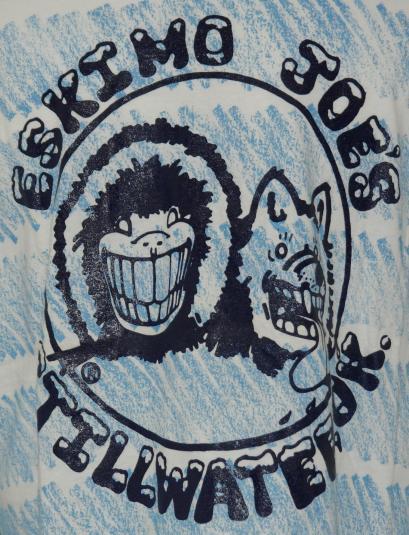 VTG 1990s ESKIMO JOES Striped Stillwater Oklahoma T-Shirt
