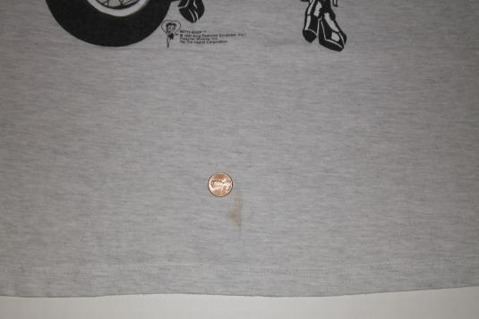 Vintage 1990s BETTY BOOP 2-Sided Biker Motorcycle NY T-Shirt