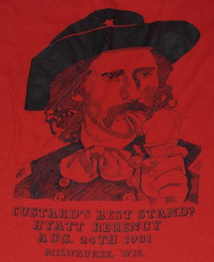 Vintage 1980s General Custer Frozen Custard T-Shirt Funny