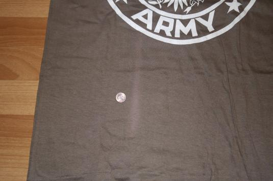 Vintage 1980s USA UNITED STATES ARMY Brown T-Shirt