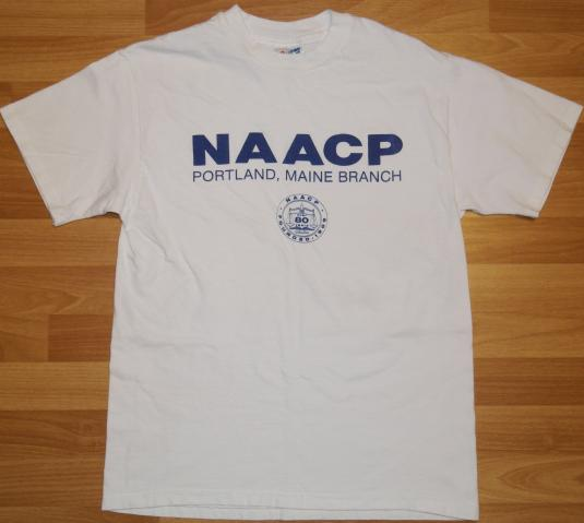 Vintage 1990s NAACP Equal Rights White T-Shirt