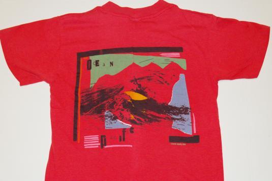 Vintage 1980s OP OCEAN PACIFIC Surfing T-Shirt Red