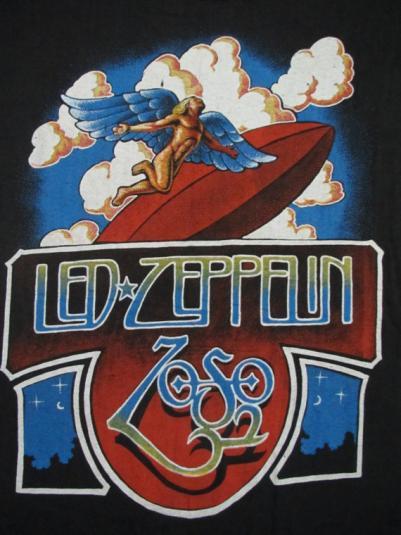 original LED ZEPPELIN vintage 70s tour SHIRT