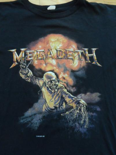 Vintage Megadeth Tour shirt