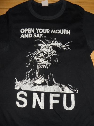 Vintage SNFU tour T