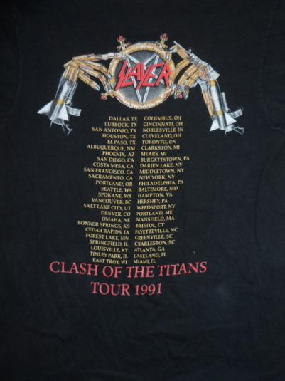 Slayer Clash of the Titans tour Tee