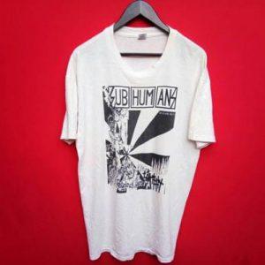 vintage Subhumans punk band xlarge mens t shirt