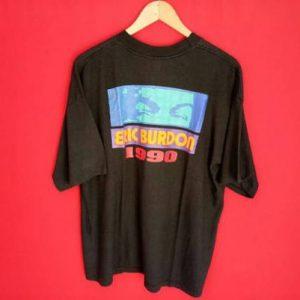 vintage Eric Burdon the animal rock band 1990 rare t shirt