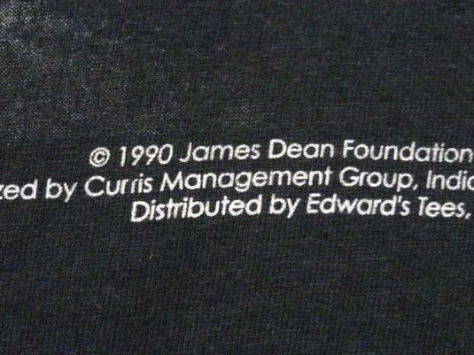 VINTAGE 90'S JAMES DEAN B&W PORTRAIT T-SHIRT L