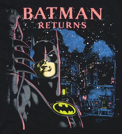 VINTAGE 1992 BATMAN RETURNS MOVIE T-SHIRT XXL