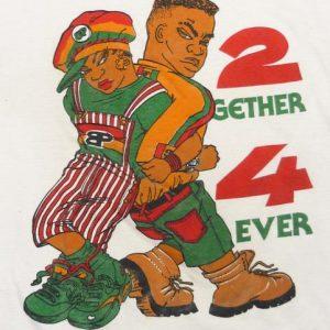 VINTAGE 90'S 2GETHER 4EVER BLACK POWER HIP-HOP RAP T-SHIRT
