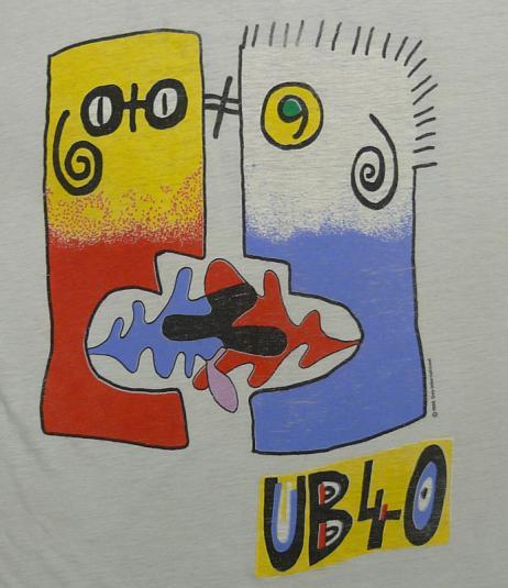 VINTAGE UB40 RAT IN THE KITCHEN 1986 THIN T-SHIRT