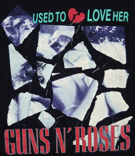 VINTAGE 80'S GUNS N ROSES LIES USED TO LOVE HER TOUR T-SHIRT