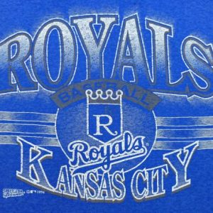 VINTAGE 90'S KANSAS CITY ROYALS PAPER THIN BURNOUT T-SHIRT