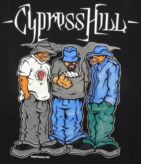 VINTAGE 90'S CYPRESS HILL RAP HIP HOP T-SHIRT XL
