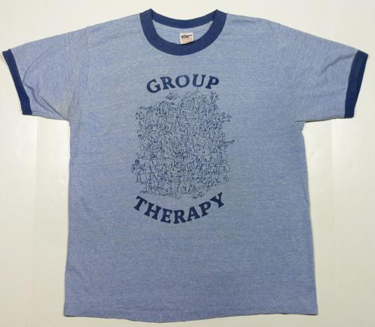 GROUP THERAPY Marciuliano ORGY SEX SOFT RINGER T-SHIRT