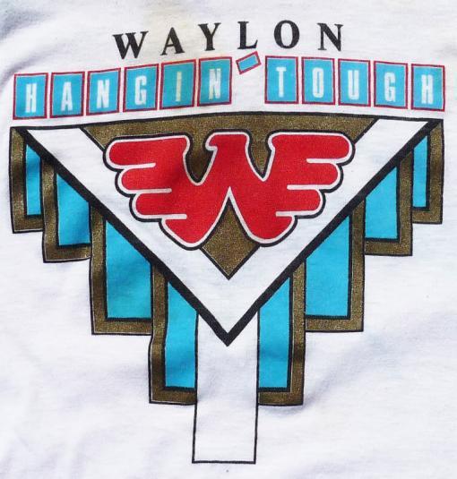 VINTAGE WAYLON JENNINGS 1987 HANGIN' TOUGH TOUR T-SHIRT