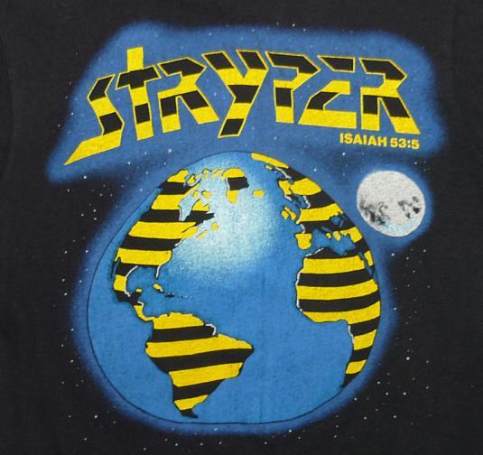 VINTAGE 80'S STRYPER ISAIAH 53:5 CHRISTIAN ROCK METAL T-SHIR