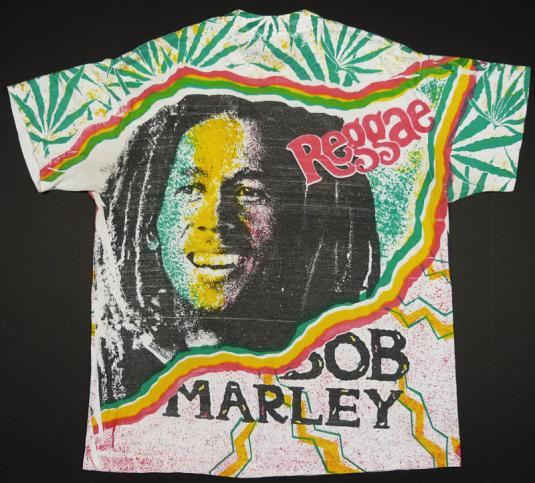 VINTAGE 80'S BOB MARLEY JAMAICA REGGAE T-SHIRT