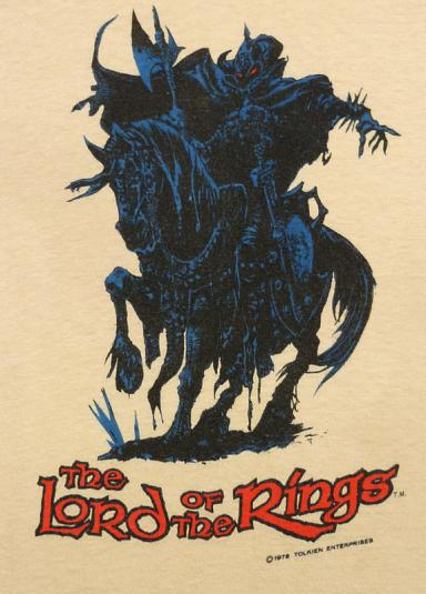 1978 LORD OF THE RINGS THE HOBBIT TOLKIEN NAZGUL T-SHIRT