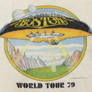VINTAGE BOSTON WORLD TOUR 79 UFO T-SHIRT