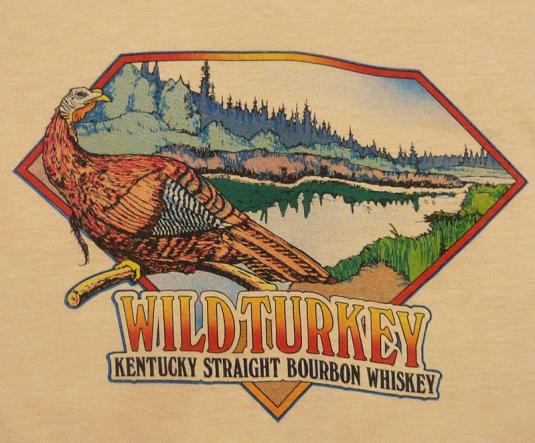 VINTAGE 80'S WILD TURKEY KENTUCKY WHISKEY BOURBON T-SHIRT