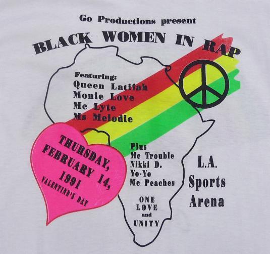 1991 BLACK WOMEN IN RAP HIP-HOP QUEEN LATIFAH MC LYTE SHIRT