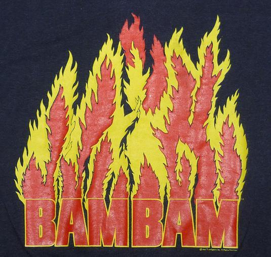 VINTAGE 80'S BAM BAM BIGELOW WWF PRO WRESTLING T-SHIRT M