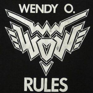 1980's WENDY O, WILLIAMS PLASMATICS PUNK ROCK T-SHIRT M