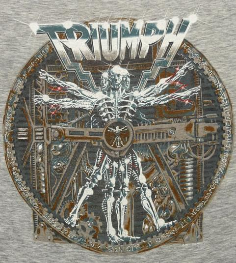 VINTAGE TRIUMPH THUNDER 1985 WORLD TOUR RAYON ROCK T-SHIRT