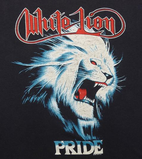 VINTAGE 80'S WHITE LION PRIDE ROCK-N-ROAR TOUR T-SHIRT M