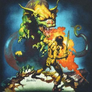80's BORIS VALLEJO FANTASY HEAVY METAL DRAGON T-SHIRT