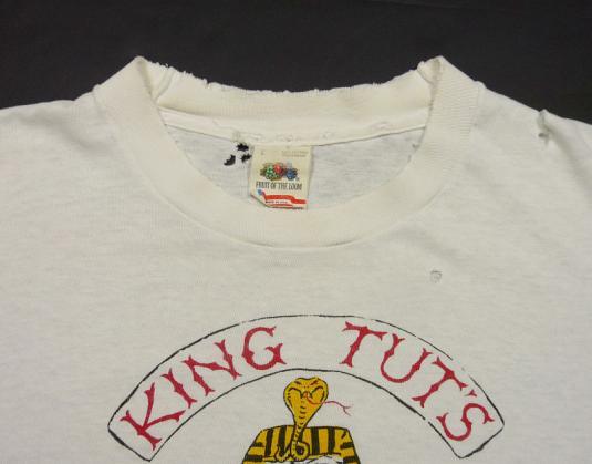 VINTAGE 80s KING TUT'S WAH WAH HUT NYC PUNK ROCK BAR T-SHIRT