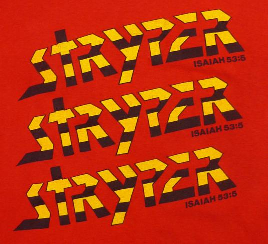 VINTAGE 80'S STRYPER REACH OUT CHRISTIAN ROCK T-SHIRT