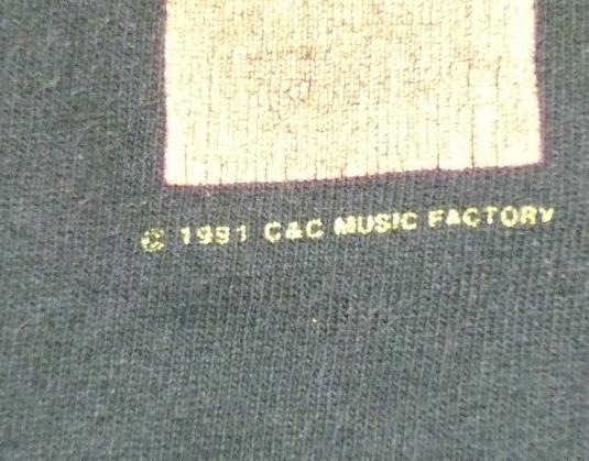 VINTAGE 1991 C+C MUSIC FACTORY TECHNO DANCE HIP-HOP T-SHIRT
