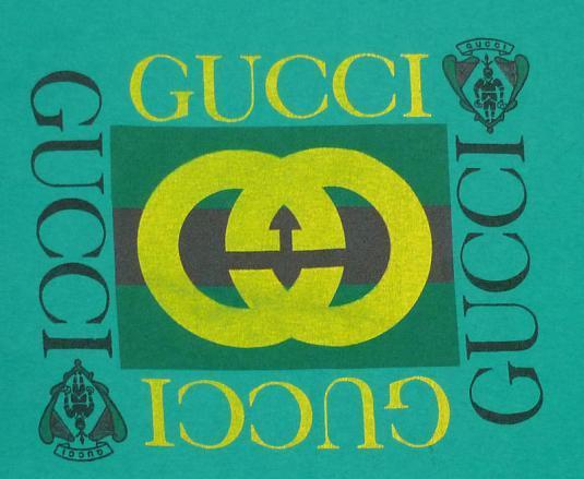 VINTAGE 90'S GUCCI HIP-HOP LOGO T-SHIRT XL