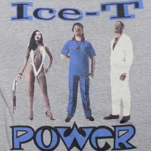1988 ICE-T POWER GANGSTA RAP HIP-HOP NWA EAZY-E T-SHIRT