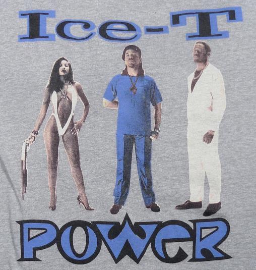 1988 ICE-T POWER GANGSTA RAP HIP-HOP NWA EAZY-E T-SHIRT
